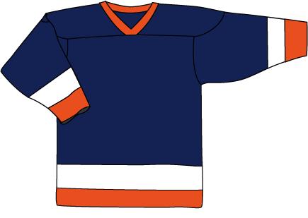 19 Navy Orange Jersey